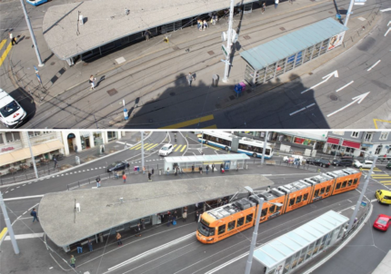 Albisriederplatz Vorher und Nachher