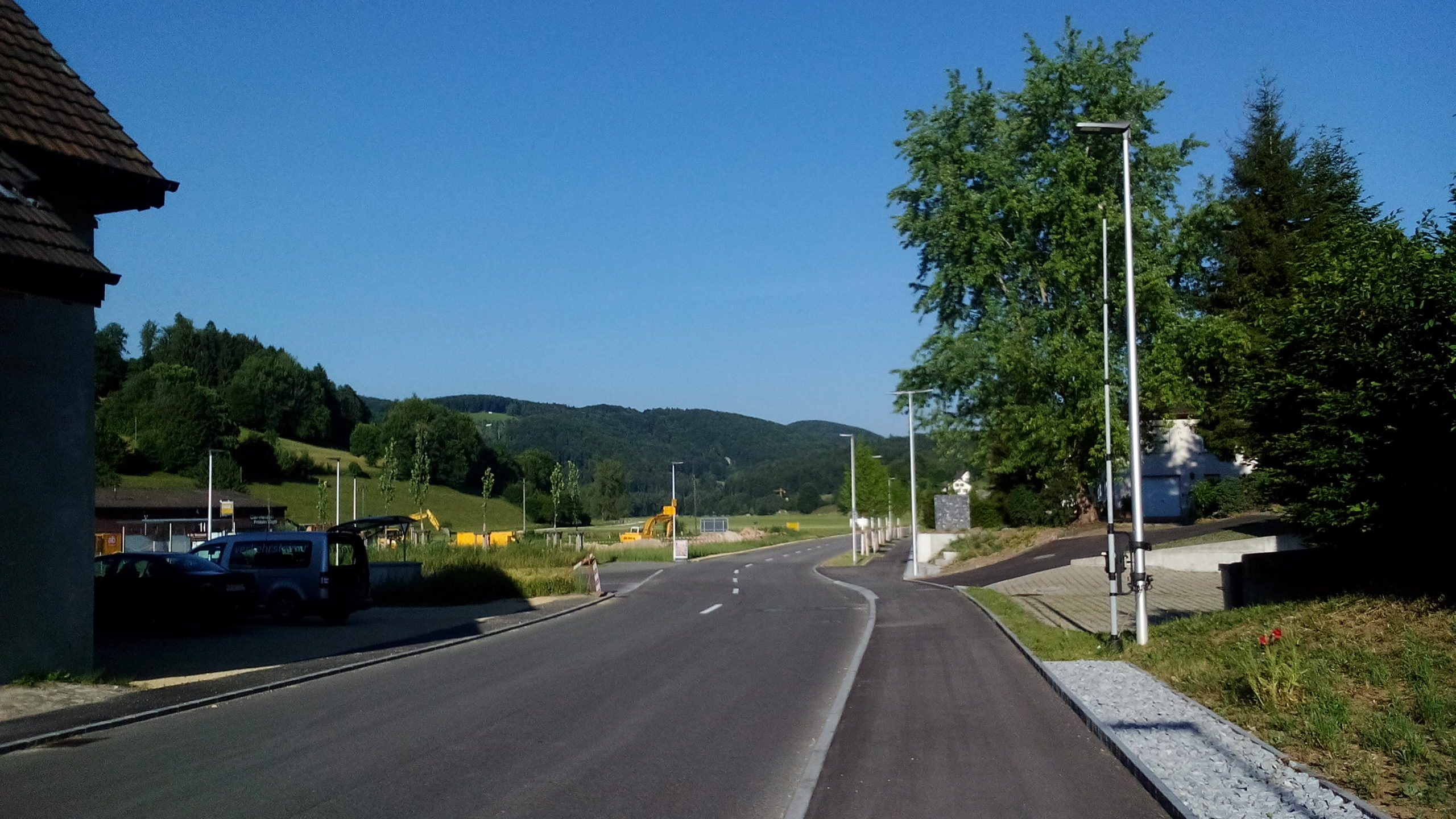 Kantonsstrasse in Seewen