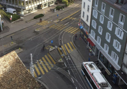 Knotenpunkt Kalkbreitestrasse / Badenerstrasse