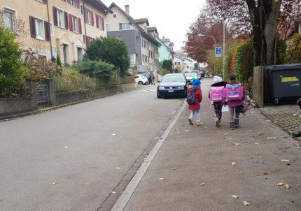 Die untersuchten Quartierstrassen haben eine hohe Bedeutung für den Schulverkehr