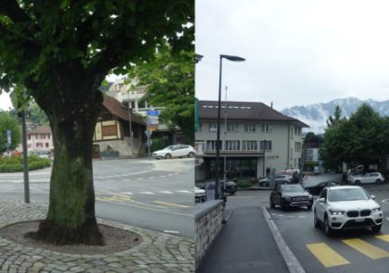 Berntorplatz (links) und Lauitorstutz (rechts)