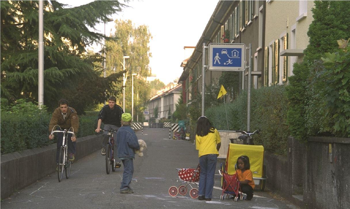 Wohnstrasse im Breitfeld in den 80er Jahre